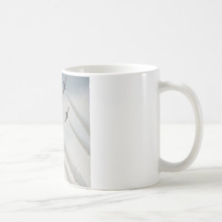 airshow plane composition classic white coffee mug