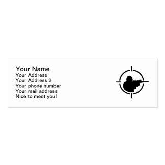 Airsoft crosshairs mini business card