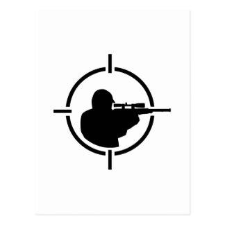 Airsoft crosshairs postcard