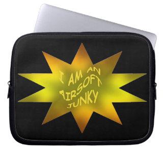 Airsoft Junky Gold Electronics Bag Laptop Computer Sleeve
