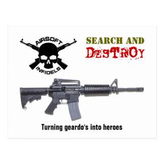 Airsoft M4 Rifle postcard