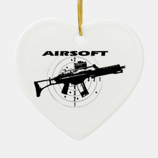 AIRSOFT Double-Sided HEART CERAMIC CHRISTMAS ORNAMENT
