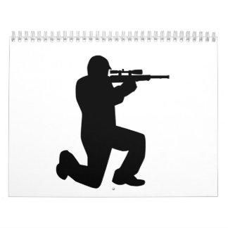 Airsoft Paintball player Calendar