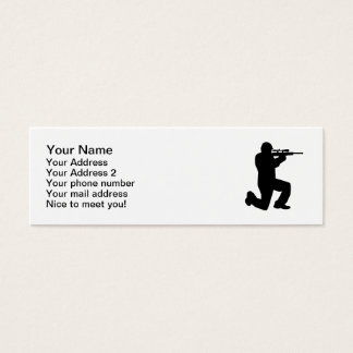 Airsoft Paintball player Mini Business Card