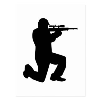 Airsoft Paintball player Postcard