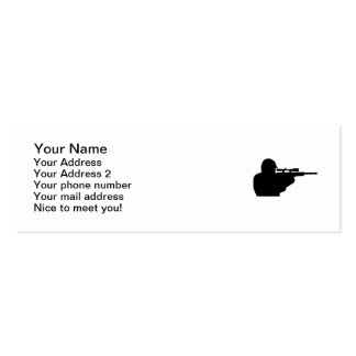 Airsoft player mini business card