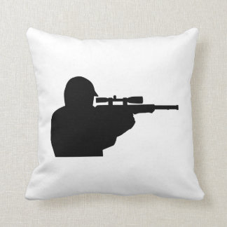 Airsoft player throw pillow