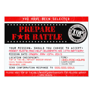 Airsoft 'Prepare for Battle' 5x7 Invitation