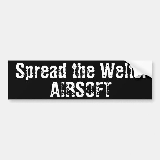 """Airsoft """"Spread the Welts"""" Bumper Sticker"""