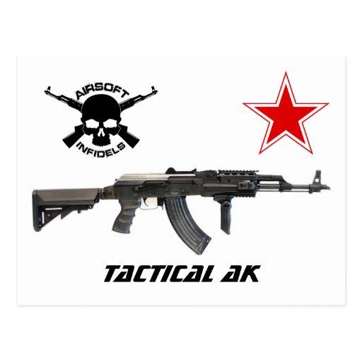 Airsoft Tactical AK postcard