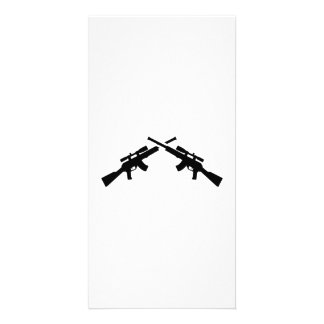 Airsoft weapons photo card