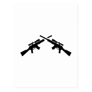 Airsoft weapons postcard
