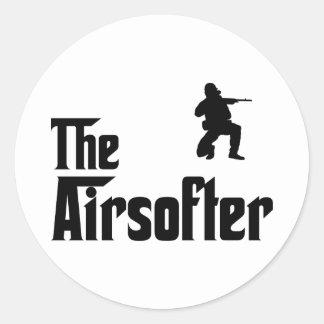 Airsofting Classic Round Sticker
