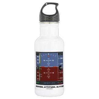 Airspeed Attitude Altitude Electronic Flight EFIS 18oz Water Bottle