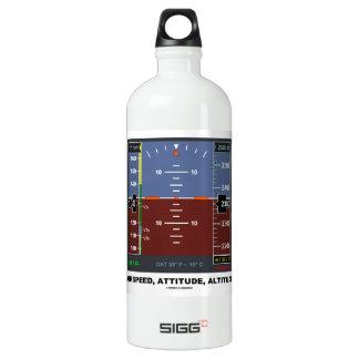 Airspeed Attitude Altitude Electronic Flight EFIS Aluminum Water Bottle
