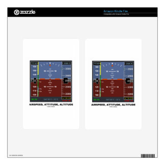 Airspeed Attitude Altitude Electronic Flight EFIS Kindle Fire Decal
