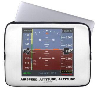 Airspeed Attitude Altitude Electronic Flight EFIS Laptop Computer Sleeve