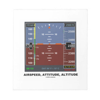 Airspeed Attitude Altitude Electronic Flight EFIS Note Pad