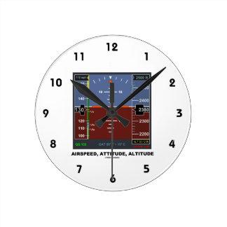 Airspeed Attitude Altitude Electronic Flight EFIS Round Clock