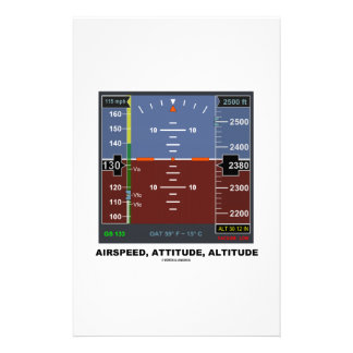 Airspeed Attitude Altitude Electronic Flight EFIS Personalized Stationery