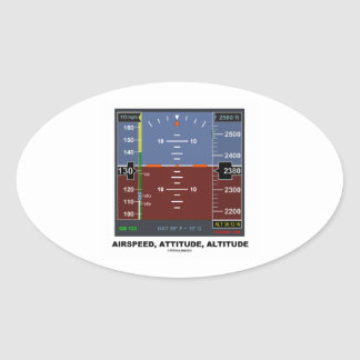 Airspeed Attitude Altitude Electronic Flight EFIS Oval Stickers