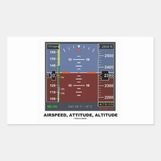 Airspeed Attitude Altitude Electronic Flight EFIS Rectangular Stickers