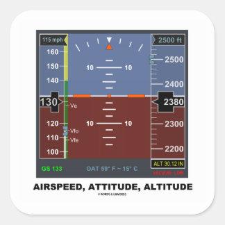 Airspeed Attitude Altitude Electronic Flight EFIS Square Sticker