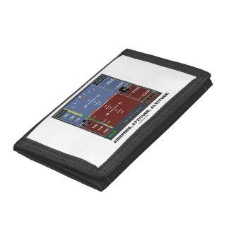 Airspeed Attitude Altitude Electronic Flight EFIS Tri-fold Wallets