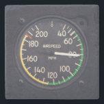 "Airspeed Gauge Stone Coaster<br><div class=""desc"">Vintage airspeed gauge on an airplane in flight</div>"
