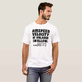 Airspeed Velocity of Unladen Swallow T-Shirt