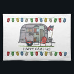 """Airstream Cloth Placemat<br><div class=""""desc"""">Bless those that see the world from the windows of an RV! Like the rugged, stalwart folks that crossed the continent in covered wagons, these individuals today settle in every nook and crany of this great land. RVer hearts are as big as the outdoors and as warm as the campfires...</div>"""