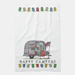 Airstream Hand Towel at Zazzle