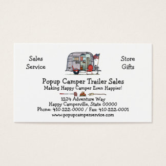 Airstream Trailer Business Card