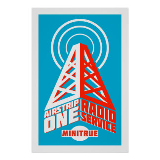 Airstrip One Radio Service Posters