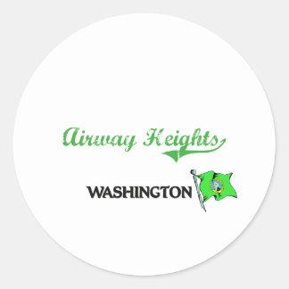 Airway Heights Washington City Classic Stickers