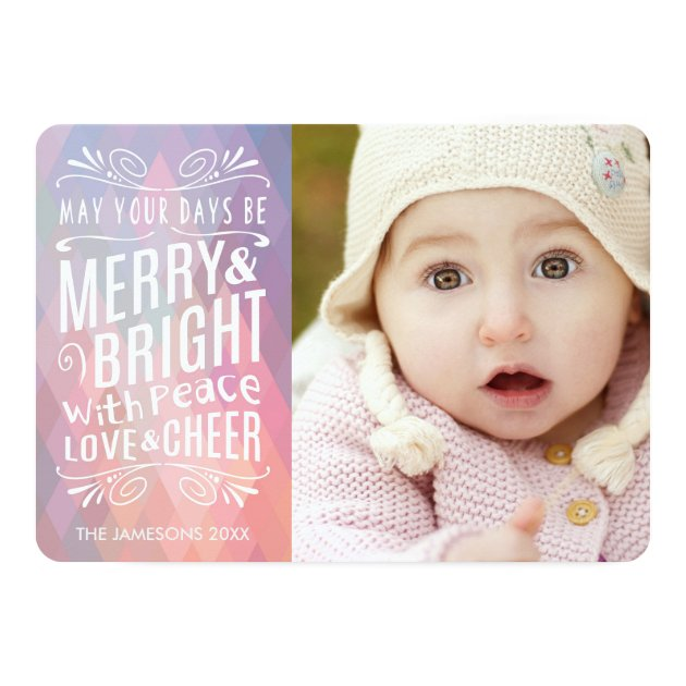 Airy and Light Holiday Photo Card