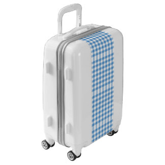 Airy Baby Blue and White Gingham Plaid Luggage