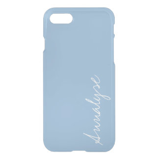 Airy Blue Light Baby Blue Sleek Solid Color Custom iPhone 7 Case