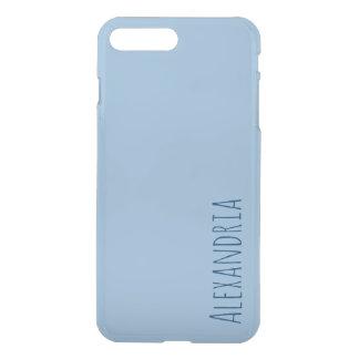 Airy Blue Light Baby Blue Sleek Solid Color Custom iPhone 8 Plus/7 Plus Case
