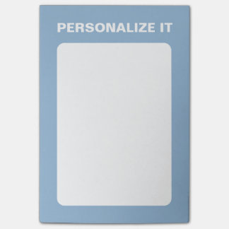 Airy Blue Modern Personalized Versatile Post-it Notes