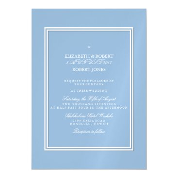 Beach Themed Airy Blue with White Wedding Detail Magnetic Card