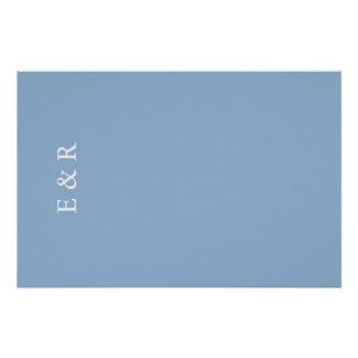 Airy Blue with White Wedding Detail Poster