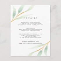 Airy Botanical Guest Information Card