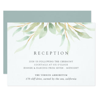 Airy Botanical Reception Card