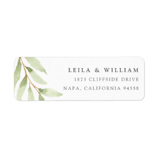 Airy Botanical Return Address Label