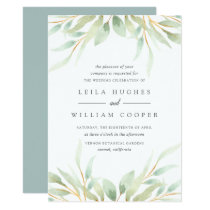 Airy Botanical Wedding Invitation