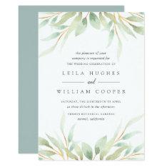 Airy Botanical Wedding Invitation at Zazzle