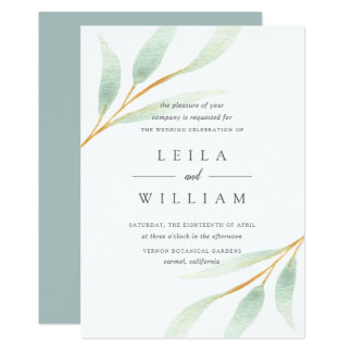 Airy Botanical | Wedding Invitation