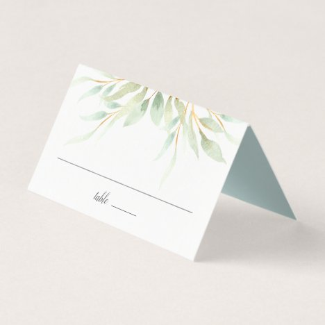 Airy Botanical Wedding Place Card