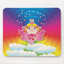 Airy Fairy Up In the Air Pink Mousepad